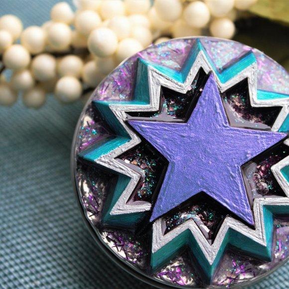 Handmade Other - Starburst Jewelry Tin trinket box, rings, earrings